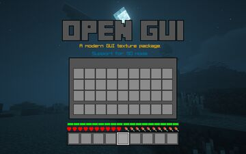 Open GUI[Win10SO style] Minecraft Texture Pack