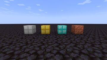 Iron, Gold, and Diamond like Cut Copper Minecraft Texture Pack