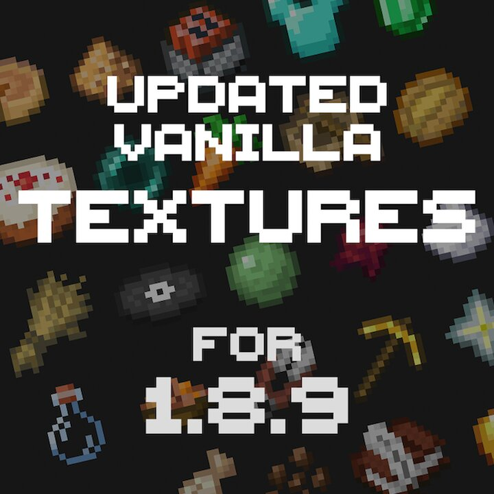 Welcome to the Updated Vanilla Textures for 1.8.9 Resource Pack!