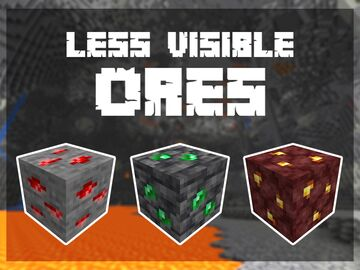 Less Visible Ores (Bedrock) Minecraft Texture Pack