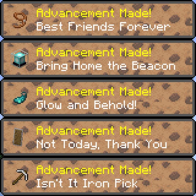 Advancement Toasts