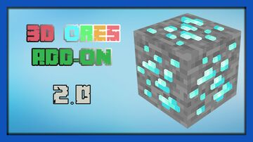 3D Ores Add-on Minecraft Texture Pack