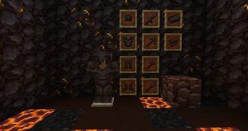 Gold + Netherite Minecraft Texture Pack