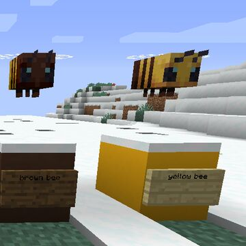 Brown and Yellow Bees Minecraft Texture Pack