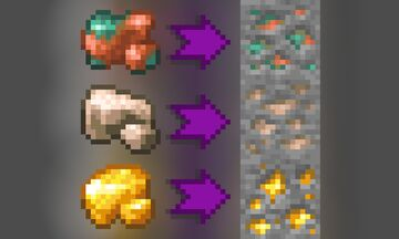 Raw to Ore Minecraft Texture Pack
