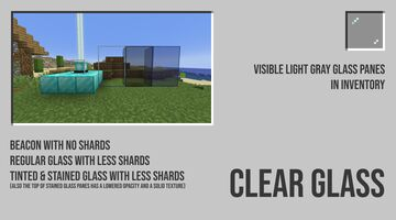 Clear Glass Minecraft Texture Pack