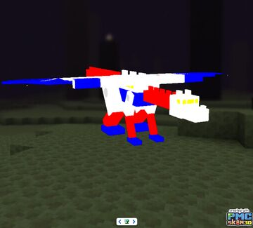 Autobot Sky Lynx G1 with fixed eye and mouth Minecraft Texture Pack