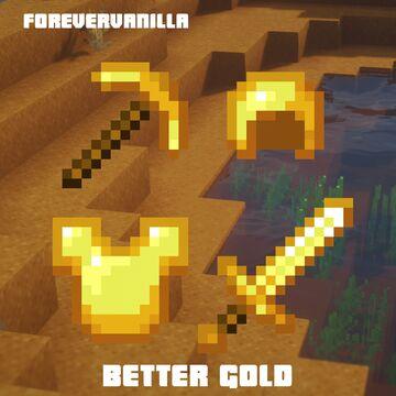 Better gold (ForeverVanilla) Minecraft Texture Pack