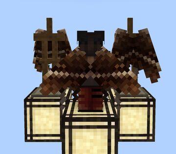 Brown Moth Elytra Wings Minecraft Texture Pack