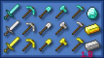 1.8 Consistent Tools Minecraft Texture Pack