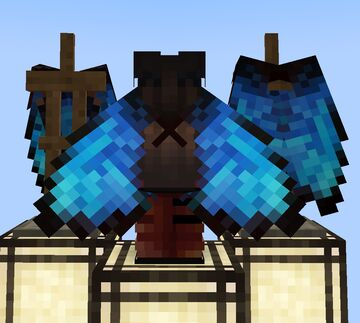 Blue Morpho Butterfly Elytra Wings 16x Minecraft Texture Pack