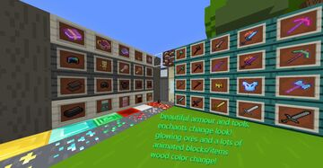 NTXT PACK animated textures, glowing ores, betters tools (base in bare bones) Minecraft Texture Pack