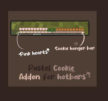 Pastel Cookie Hotbar HUD Minecraft Texture Pack