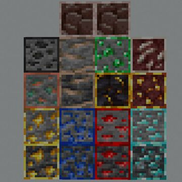 MastPow's Outlined Ores 21w08a Minecraft Texture Pack