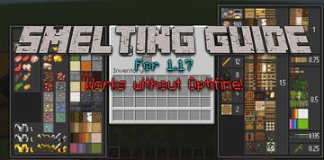 Smelting Guide  1.17 [ No Optifine requirement ] Minecraft Texture Pack