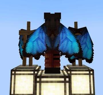 Blue Morpho Butterfly Elytra Wings 32x Minecraft Texture Pack