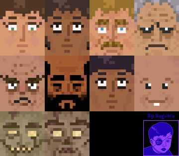 Bago´s Village People - Animated and Diverse Villager Faces Minecraft Texture Pack