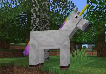 Unicorn Texture Pack - Turns White Horses Into Unicorns! Minecraft Texture Pack