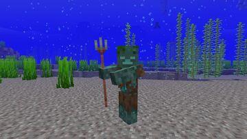 Copper Trident Minecraft Texture Pack