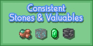 Consistent Stones/Valuables - Bedrock Minecraft Texture Pack