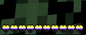 Bienkie's Non-Binary Pride Hearts! (1.16x)(LGBTQIA+) Minecraft Texture Pack