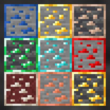 Uniform Ores Addon for Toycatw's PVP pack Minecraft Texture Pack