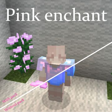 Pink Enchant Minecraft Texture Pack