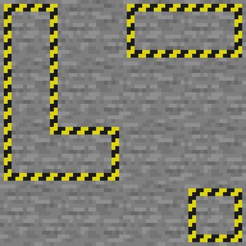 Infested Block Caution Stripes Minecraft Texture Pack