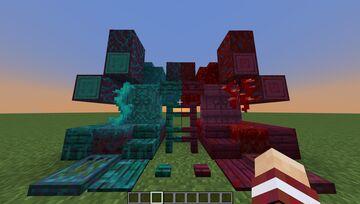 Animated Crimson and Warped Blocks Minecraft Texture Pack