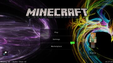 Ikelos Clean UI (Bedrock) Minecraft Texture Pack