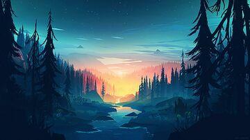 Forest custom sky Minecraft Texture Pack