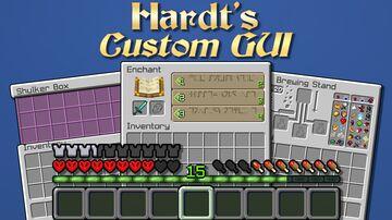 Hardt's Custom GUI HD + Font v1.2 [1.17.X] Minecraft Texture Pack