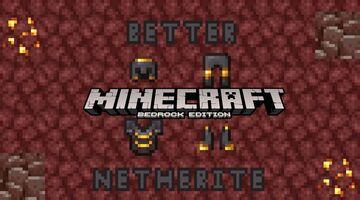 Better Netherite BedrockEdition Minecraft Texture Pack