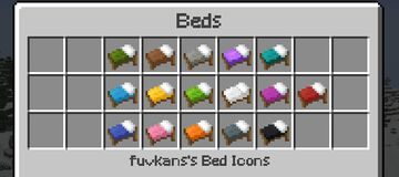 fuvkans's bed icons Minecraft Texture Pack