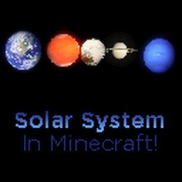 Solar System in Minecraft! Minecraft Texture Pack