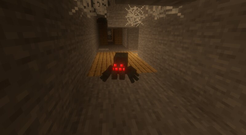 A sole cave spider in the abandoned mines
