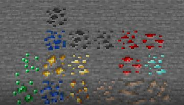 Old and new ore textures Minecraft Texture Pack