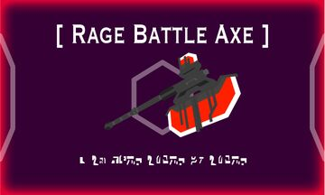 Rage Battle Axe Minecraft Texture Pack