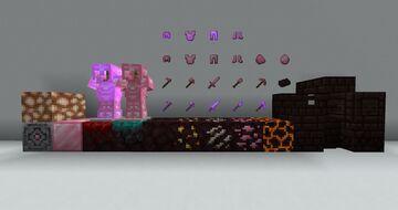 Pink Netherite Minecraft Texture Pack