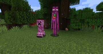 Pink Mobs (Creeper & Endermen) Minecraft Texture Pack