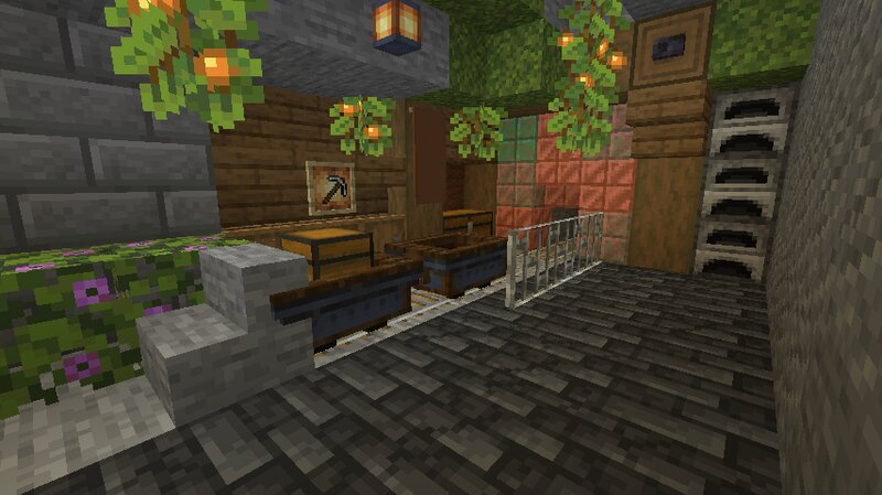 som minecarts chilling in a mineshaft