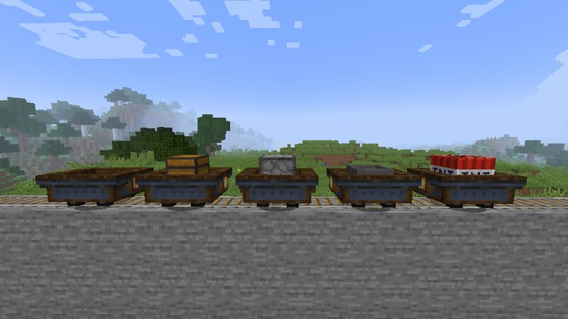 all of the minecarts