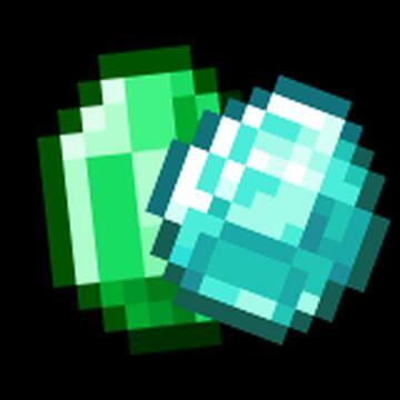 Flipping Emerald and Diamond (Animaton) Minecraft Texture Pack