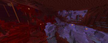 Terraria Corruption over Warped Forest Minecraft Texture Pack