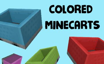 Colored Minecarts! [OptiFine] Minecraft Texture Pack