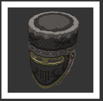 Custom 3D Crusader Helmet Minecraft Texture Pack