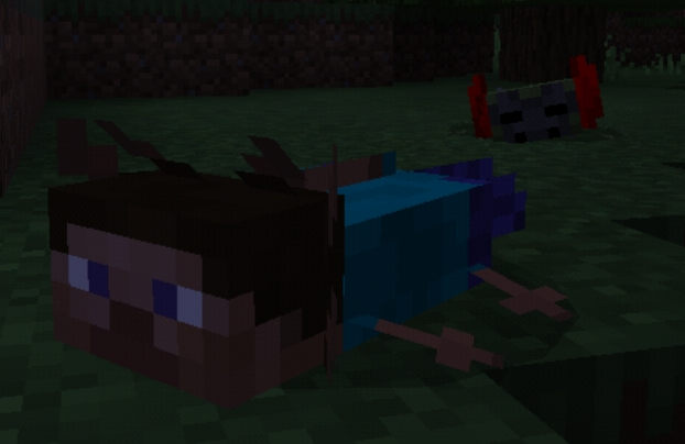 Staxolotl Minecraft Mob Skin
