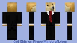 Doge in suit Minecraft Skin