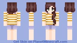 yellow stripes Minecraft Skin
