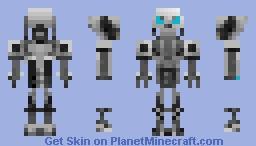T-1000 Endoskeleton From terminator Future war Minecraft Skin